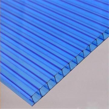 PC阳光板透明耐力板PC板加工定制湖蓝草绿茶色厂家直销双层中空板